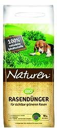 Naturen 8864 Bio Rasendünger - Organischer Volldünger mit bis zu 3 Monaten natürlicher Langzeitwirkung für Sport,- Spiel - und Zierrasen - 10 kg für 250 m²