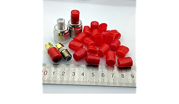 Davitu 9mm protective cover Rubber Covers Dust Cap for F type coaxial connector or metal tubes red color 100pcs//lot
