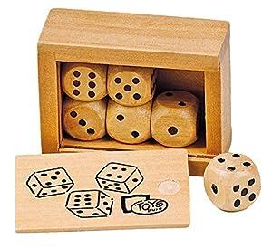 Goki- Juegos Educativos Caja con 6 Dados de Madera, (HS239)