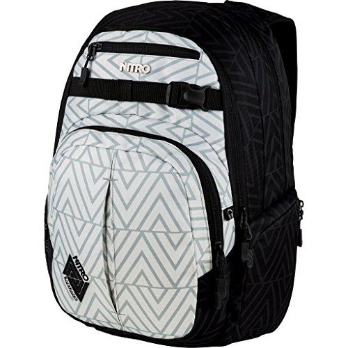 , Schulrucksack mit Organizer, Schoolbag, Daypack mit 17 Zoll Laptopfach,  Diamond ()