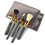 DAMENGXIANG Tragbare 5 Sätze Mit Pinsel Make-Up-Pinsel Pinsel Make-Up Doppeltes Gesicht Haare Bürste Professionelle Make-Up-Pinsel Augenbrauen Pinsel Lidschatten Pinsel.