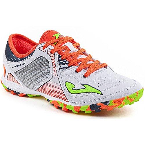 Joma ligas _ 702_ en chaussures Futsal Liga 5702Blanc Chaussure, mode mixte, pour adulte, Bianco