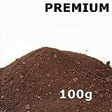 Pigmentpulver, Eisenoxid, Oxidfarbe - 100g (29,90€/kg) im Beutel Farbpigmente, Trockenfarbe für Beton + Wand - Farbe: dunkelbraun, braun