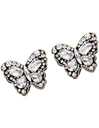 Footful Pair Sewing On Butterfly Rhinestone Applique For DIY Wedding Dress Shoe Clip