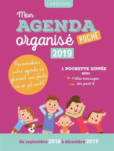 Mon agenda organisé poche 2019 par Collectif