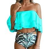 AHOOME Costume Da Bagno Donna Coordinati da Bikini Costume da Bagno Retr¨° e Alla Moda con Volant