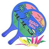 LURICO Badminton Palline spiaggia Set Indoor Outdoor Palla Beach ball, 2 Giocatori, Multicolore