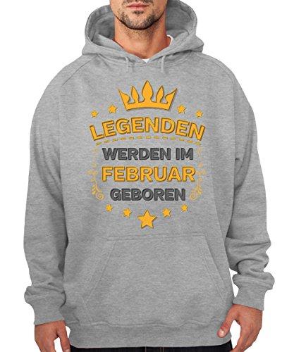 -- Legenden werden im Februar geboren -- Boys Kapuzenpullover Sports Grey