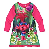 Chemise de nuit manches longues enfant fille Trolls Rose foncé de 3 à 12ans - Rose foncé, 3 ans