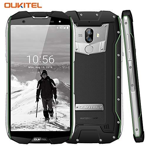 Outdoor Smartphone, OUKITEL WP5000 5,7 Zoll Display, Android 7.1 Handy ohne Vertrag, Dual SIM Handy, IP68 Wasserdicht Stoßfest Staubdicht, 6GB+64GB, Helio P25 Octa Core, Mobiltelefon 4G,5200mAh -Grün