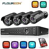 FLOUREON Sytème de Sécurité 8CH DVR AHD 1080N...