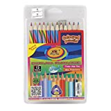 #9: Parteet New Multicolour Pencils with sharpner for Kids