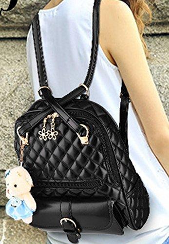 Longzibog Einfache und Modedesign. Nie aus der Mode. Mode Damen accessories hohe Qualit?t Einfache Tasche Schultertasche Freizeitrucksack Tasche Rucks?cke Weinrot