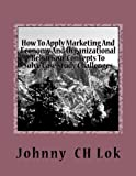 How To Apply Marketing And Economy And Organizational Behaviour Concepts To Solv