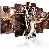 murando - Bilder 200x100 cm Vlies Leinwandbild 5 TLG Kunstdruck modern Wandbilder XXL Wanddekoration Design Wand Bild - Abstrakt Liebe Love Paar Leidenschaft h-A-0070-b-n