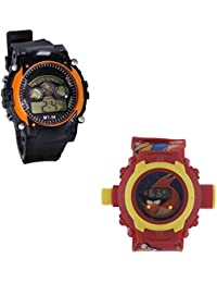 Shanti Enterprises Combo Angry Bird 24 Images Projector Watch And Sports Watch Multi Color Dial For Kids - B075728XZQ