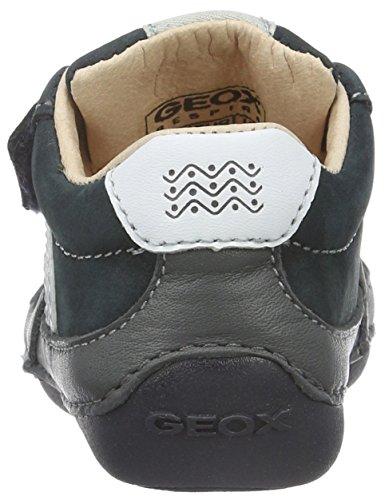 Geox Baby Jungen B Tutim C Krabbelschuhe Blau (NAVY/DARK GREYC0718)