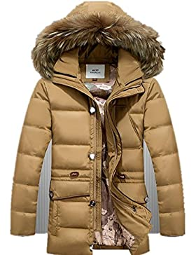 MHGAO Invierno Nuevo estilo de lana larga Padded Collar Capa Caliente , 2 , xl