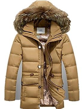 MHGAO Invierno Nuevo estilo de lana larga Padded Collar Capa Caliente , 2 , xxxl