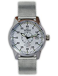 LIV MORRIS LIV MORRIS Cologne Mesh 0732066354482 - Reloj para hombres, correa de acero inoxidable color acero