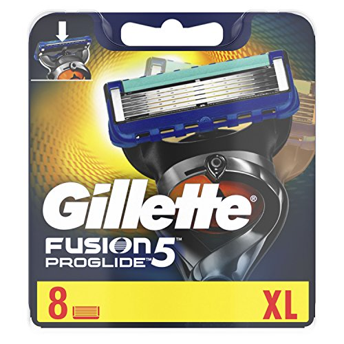 Gillette Männer Fusion5 ProGlide Rasierklingen, 1er Pack (1 x 8 Stück) Joker Klinge