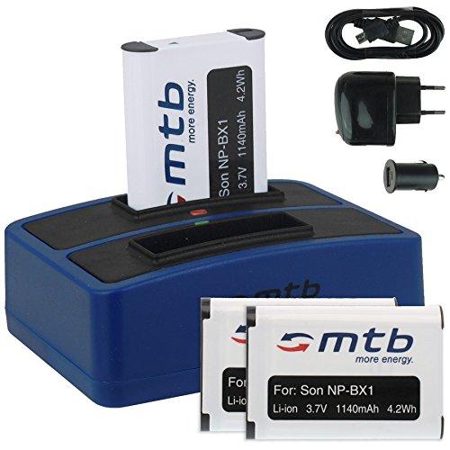 3x Akku + Dual-Ladegerät (Netz+Kfz+USB) für NP-BX1 / Sony Action Cam FDR-X1000V, X3000R / HDR-AS200V, AS100V, AS50, AS30(V), AS10... s. Liste