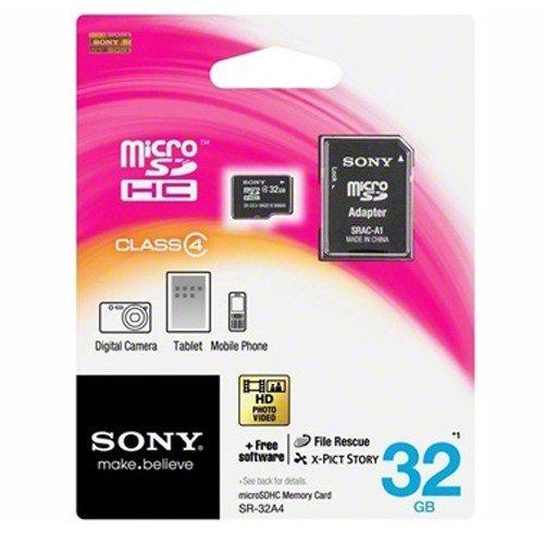 Sony 32Gb Class 4 microSDHC Memory Card