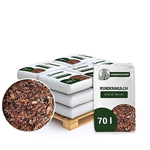 MammutGarten Rindenmulch Kiefer Rinde Garten Grob 20-60mm 70l Sack x 12 STK (840 L)