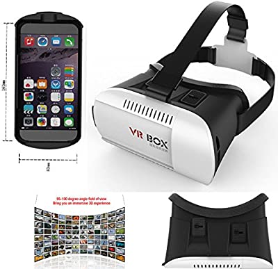 Hibote Portš¢til 3D-VR-Brille Rreally Virtual Gafas 3D Montado en la cabeza Google Cardboard Version 3D VR Glasses Headset DIY 3D VR Video Movie Game Glasses for iPhone 6Plus 6 Samsung Note 4 / All 4.7 ~ 6.0