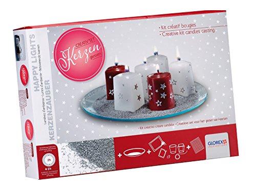 Glorex 6 8650 106 - Kreativset zum Formen und Verzieren von Weihnachtskerzen, Komplettset zum Kerzengießen, tolle kreative Geschenkidee