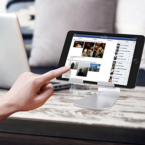 iPad Ständer Verstellbare, Lamicall Tablet Staender : Universal Halter, Halterung, Dock, Wiege für iPad Pro 10.5 / 9.7, iPad Air 2 3 4, iPad mini 1 2 3 4, Samsung Huawei E-Reader und Google Nexus 7 10 4 Tablette Schreibtisch, andere Tab Smartphone 5''-13'' - Silber - 6