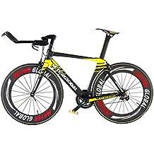 Strada in carbonio TT–Bicicletta riflettente Decal 88mm clicnher bordo 11V Shimano 1055800leggero per bicicletta da corsa TT - Strada Del Carbonio Frame Set