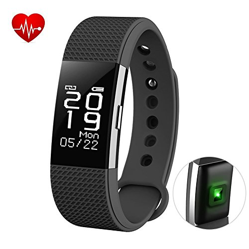 MECKWELL Xiaomi Redmi Note 4 Compatible Fitness Tracker Heart Rate Monitor OLED Touch Screen Activity Pedometer with Waterproof Smart Wristband and Sleep Monitor Smart Bracelet
