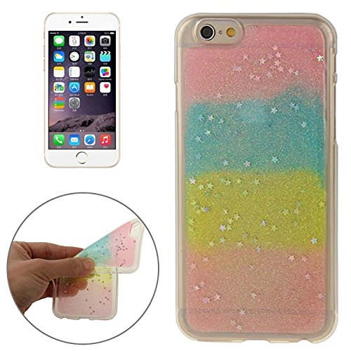 Phone case & Hülle Für IPhone 6 / 6S, Multicolor Star Sequins Flash Powder Serie TPU Schutzhülle ( SKU : S-IP6G-9334C ) S-IP6G-9334C