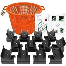 Wingx cavaletti Barras de cabezales–Juego de 12con cesta, Cuaderno informativo y DVD, soporte para gymnastizierendes Caballos de Entrenamiento, para elevador y fijación de barras de obstáculos
