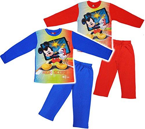 alles-meine.de GmbH 2 TLG. Set _ Schlafanzug / Hausanzug / Pyjama -  Disney Mickey Maus / Mouse  - Größe: 2 Jahre - Gr. 92 - Langer Trainingsanzug / Sportanzug langärmelig - 10..