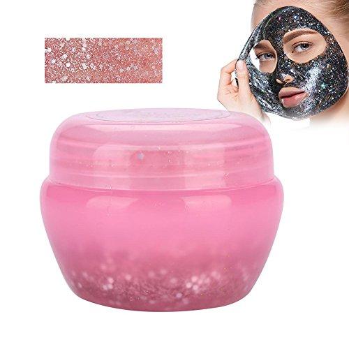 Gesichtsmaske, Sternenhimmel Glow Glitter Pailletten Maske Peel off Feuchtigkeitsspendende Maske Gesichtspflege(Rosa)