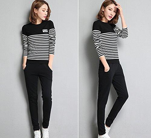 doxungo per il tempo libero, pantaloni da donna, Pantaloni Fitness, spessore Sport Pantaloni per la primavera e l' autunno nero