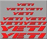 Ecoshirt QE-DN9N-HQXX Stickers Yeti R210 Vinyle Adhésifs Decal Aufkleber - Rouge