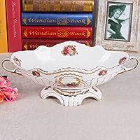 MEICHEN Casa sala da pranzo soggiorno lusso regalo squisito stile europeo creatività binaurale osso Cina (Cina Tazze Set)