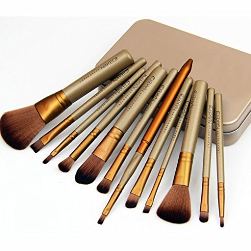 F-blue Professionelle Make-up Pinsel Foundation Blending erröten Pulver-Bürsten-Satz-12pcs