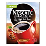 NESCAFÉ Café Classic Soluble Natural  Sobres   Paquete de 10 Sobres cada uno de 2g de Café