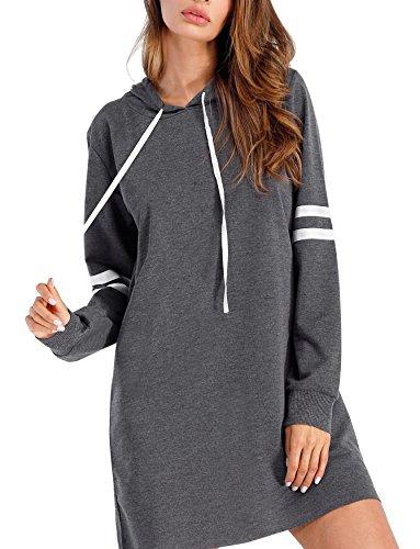 Flying Rabbit Damen Langarm Sweatshirt Damen Langarm Hoodies Casual Herbst kleid ( dg, m ) (Kleider Pullover Herbst)