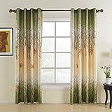 Leidener Tülle Top Druck-Land grün Maple Leaf gefüttert Vorhang Drapes Multi Größe erhältlich Custom (eine Stoffbahn), Textil, grün, 42Wx63