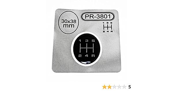 1x Schalthebel Aufkleber Oval 30 X 38 Mm 5 Gang Schaltknauf Emblem Silikon Sticker Schema 1 Auto