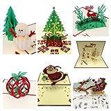 alletechplus 3D Handgefertigt Geschenk Grußkarten Süße 7Stück Urlaub Pop Up Karten im Papierbasteln