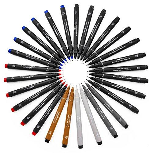 Uni Pin Fineliner/Zeichenstift, komplett-Set, 29-in verschiedenen Farben und,