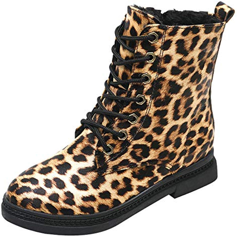 Mounter Bottes DéContractéEs Femme Hiver, 2019 DégageHommes t Chaussures Bout Rond WoHommes  Cuir Noël Chaussures t - B07JN8PV6W - b35fb1