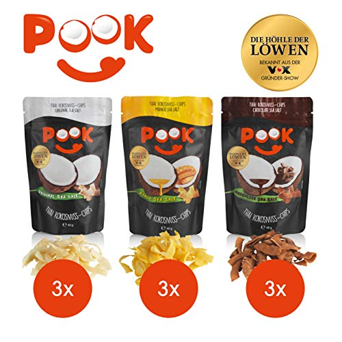 POOK Kokosnuss-Chips Try me 9er-Set (9 x 40 g),...