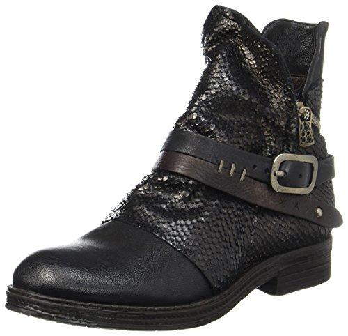 A.S.98 Damen Verti Biker Boots, Schwarz (Nero/Nero/Nero/Tdm/Nero/Nero), 38 EU